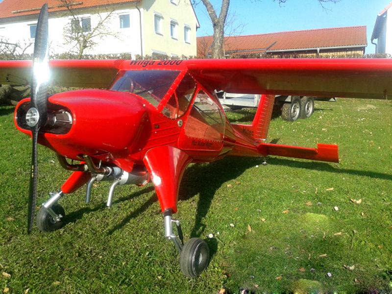 Folienaufkleber und RC-Sticker für Modellflug - Wilga 2000